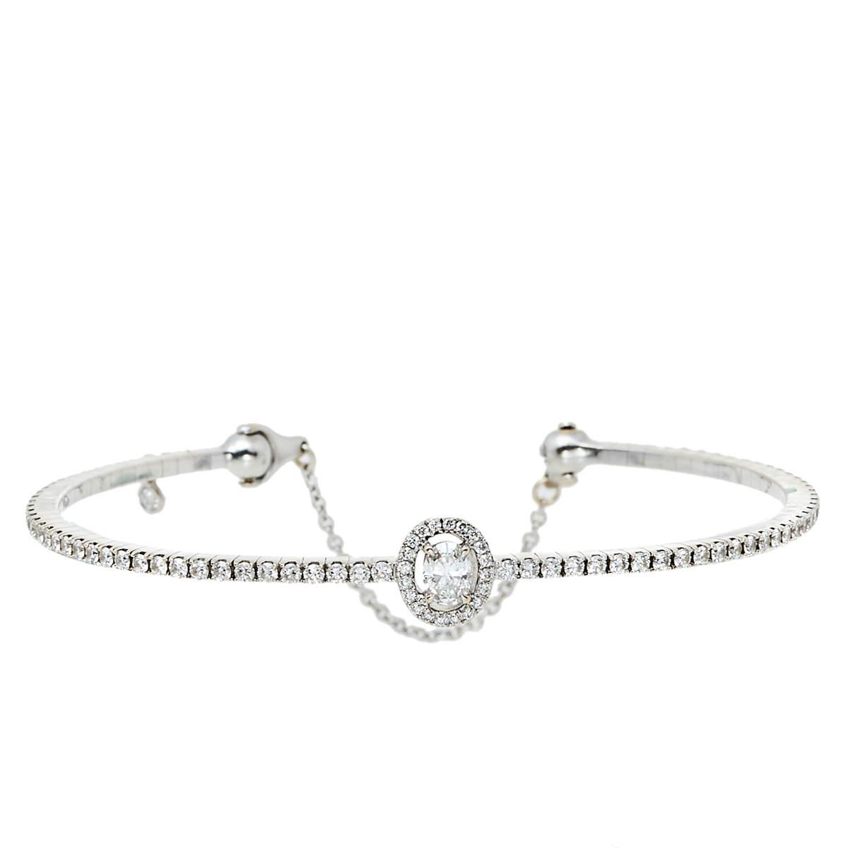 Messika Glam'Azone Diamond Pavé 18K White Gold Bracelet