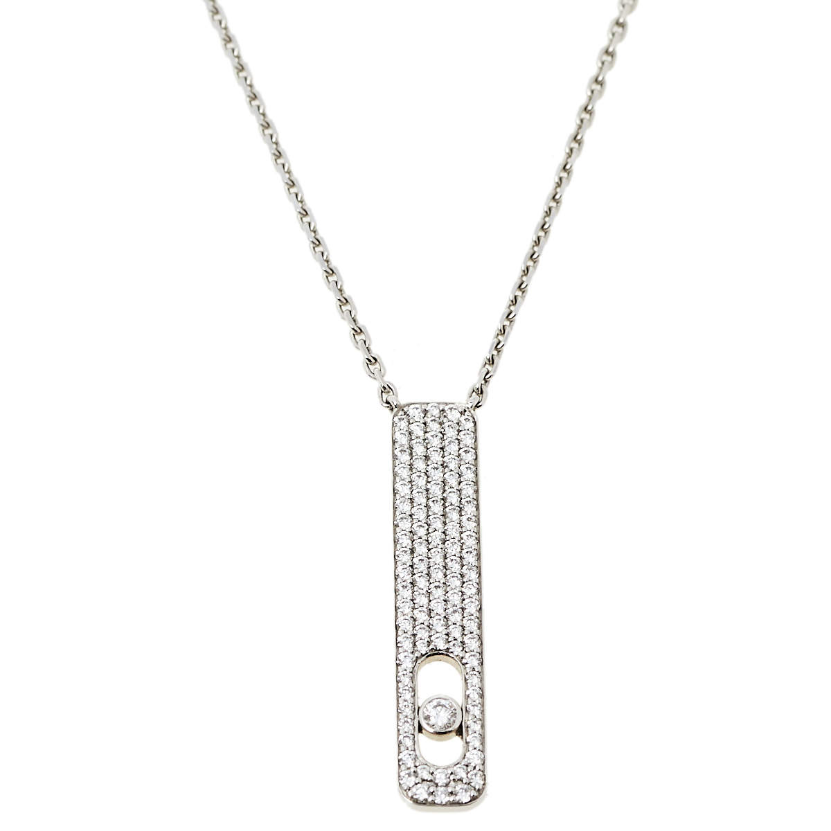 Messika My First Diamond Pave 18K White Gold Pendant Necklace