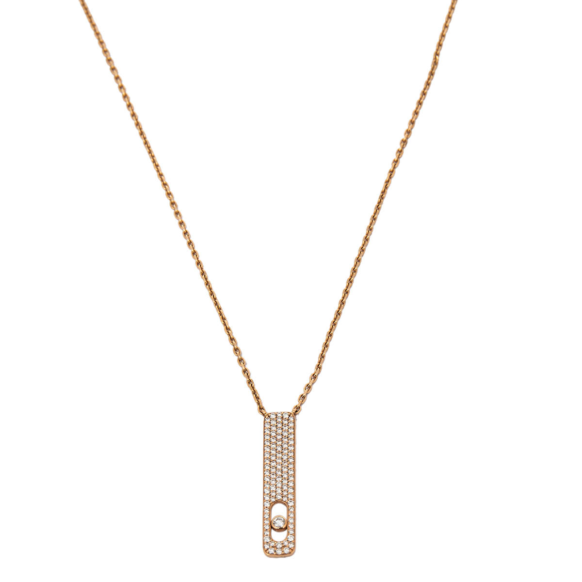 Messika My First Diamond Pave 18K Rose Gold Pendant Necklace