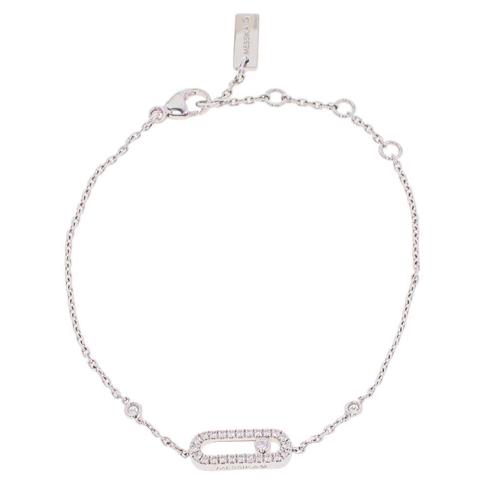 Messika Move Uno Pavé Diamond 18K White Gold Bracelet