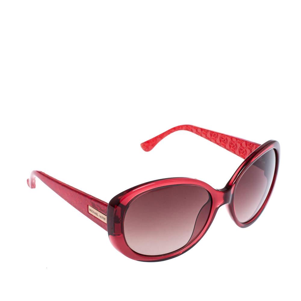 Michael Kors Red / Brown Gradient M2846S Carolina Oversized Sunglasses