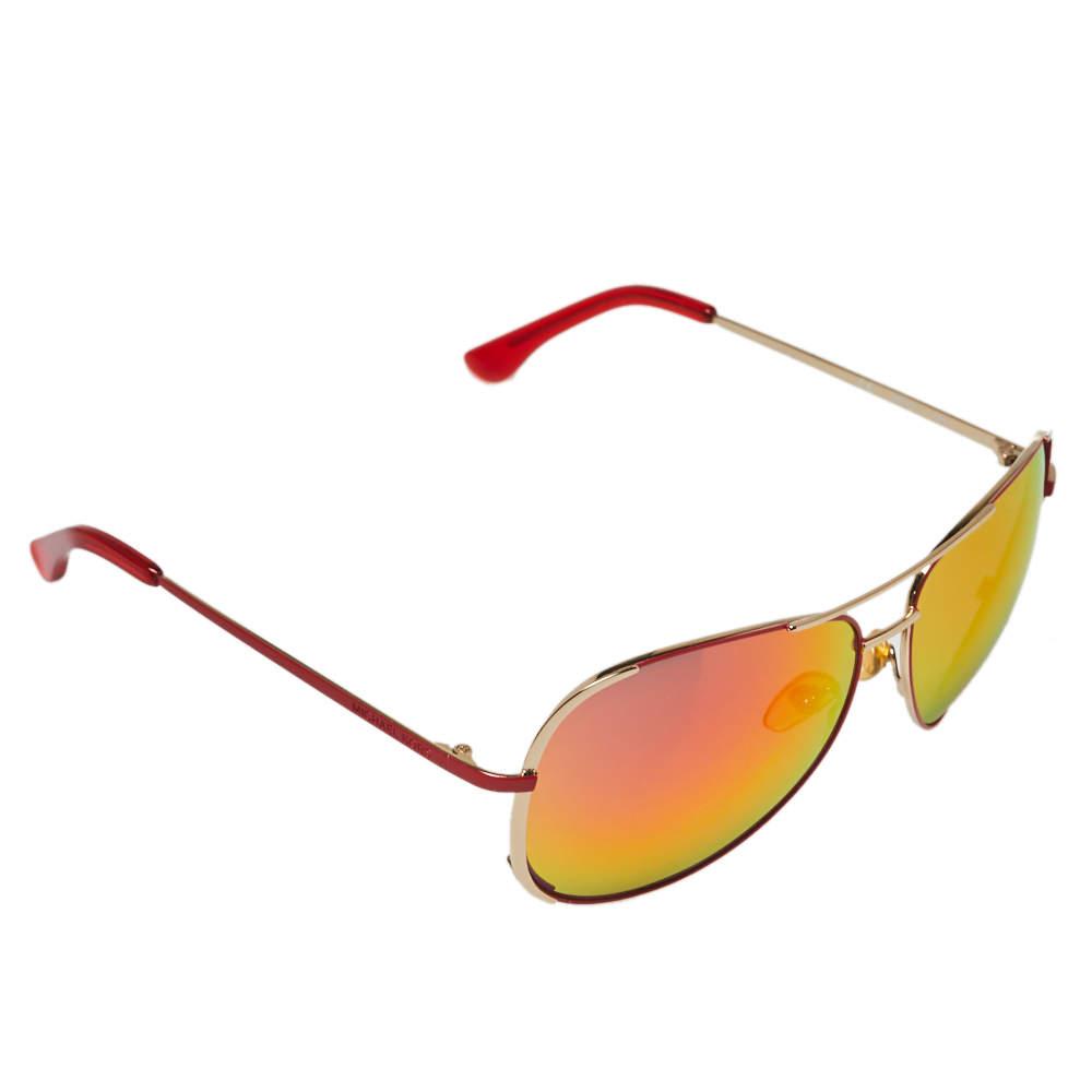 نظارة شمسية مايكل مايكل كورس أفياتور عاكسة سيسيلي فلاش أم2067أس برتقالي/ لون ذهبي فاتح