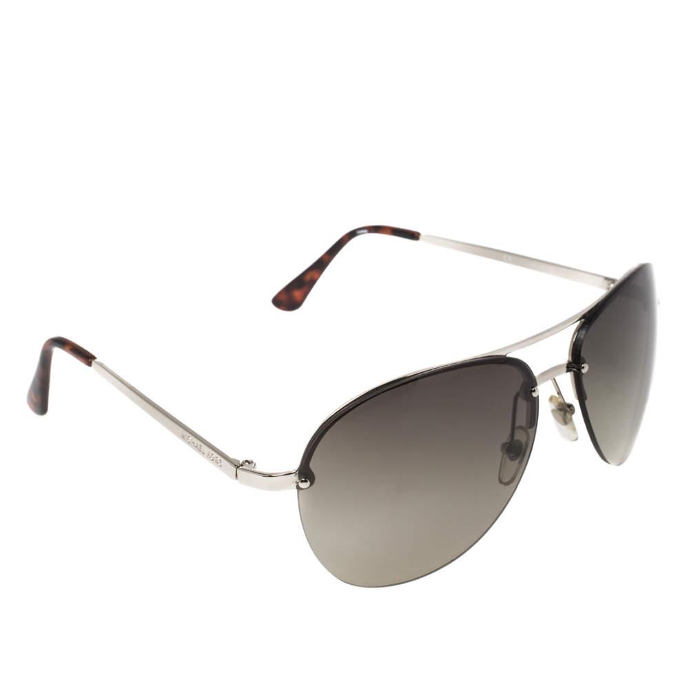 MICHAEL Micheal Kors Silver Tone/ Green Kai M2068S Aviator Sunglasses