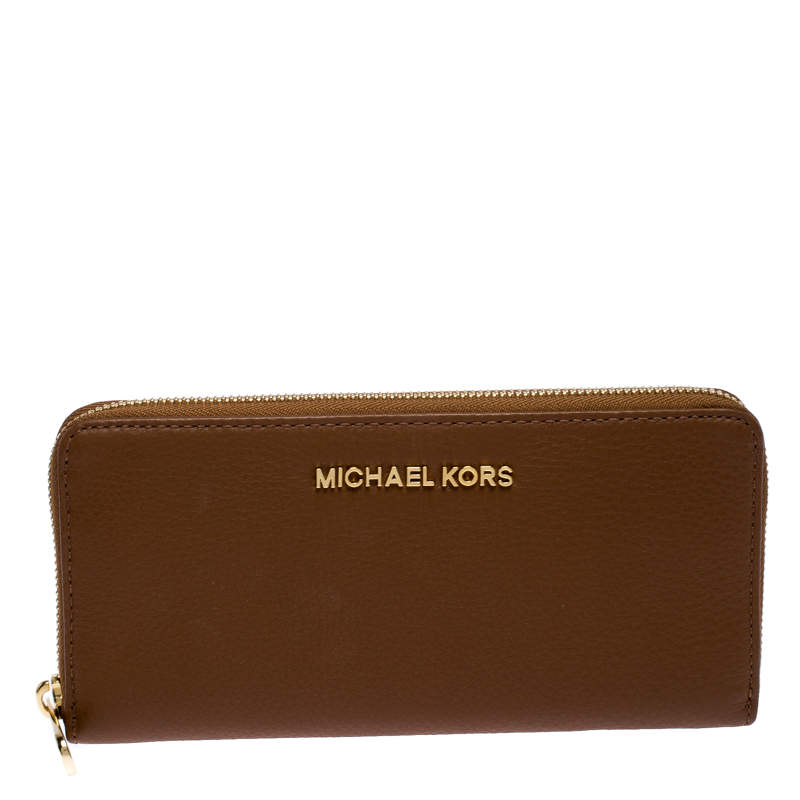 Michael Kors Brown Leather Bedford Continental Wallet