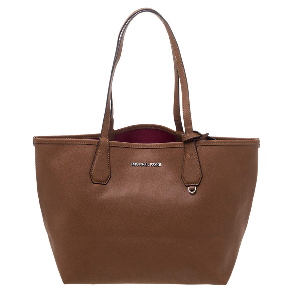 Michael Kors Brown Leather Candy Reversible Tote