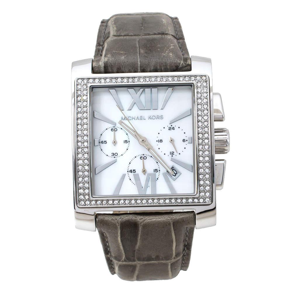 Michael Kors MOP Stainless Steel Uptown Glam Gia MK5674 Women's Wristwatch 37 mm