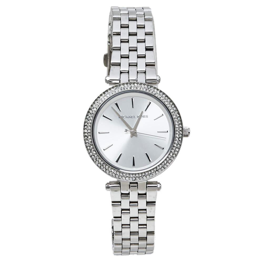 Michael Kors Silver Stainless Steel Mini Darci MK3429A Women's Wristwatch 33 mm