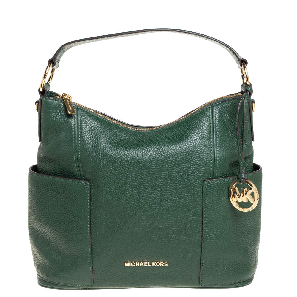 MICHAEL Michael Kors Green Leather Anita Hobo