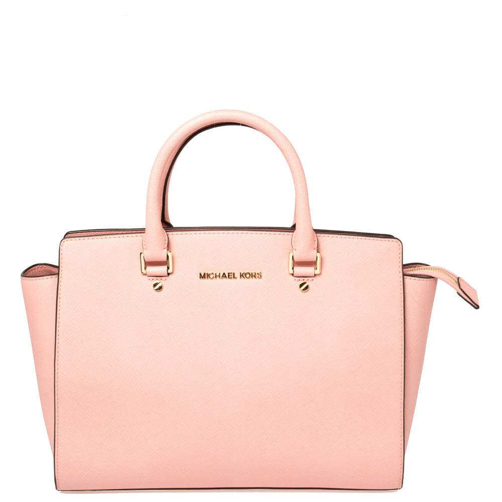 MICHAEL Michael Kors Pink Leather Large Selma Satchel