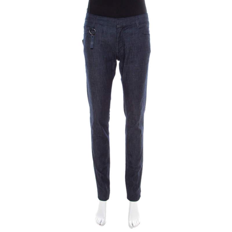 Miu Miu Indigo Dark Wash Denim Slim Fit Jeans M