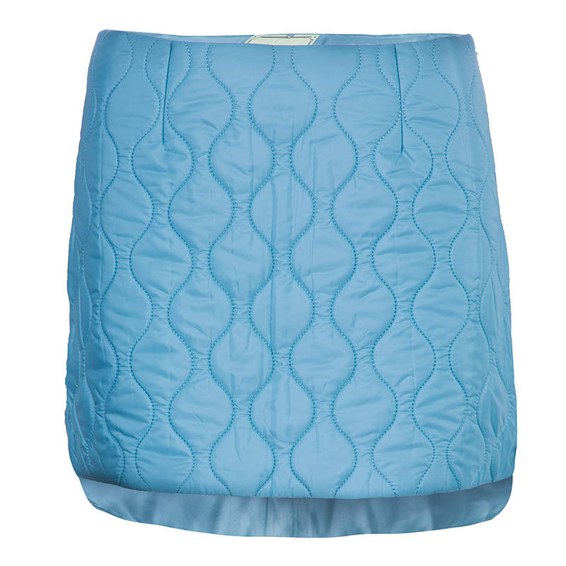 Miu Miu Powder Blue Quilted Mini Skirt  S