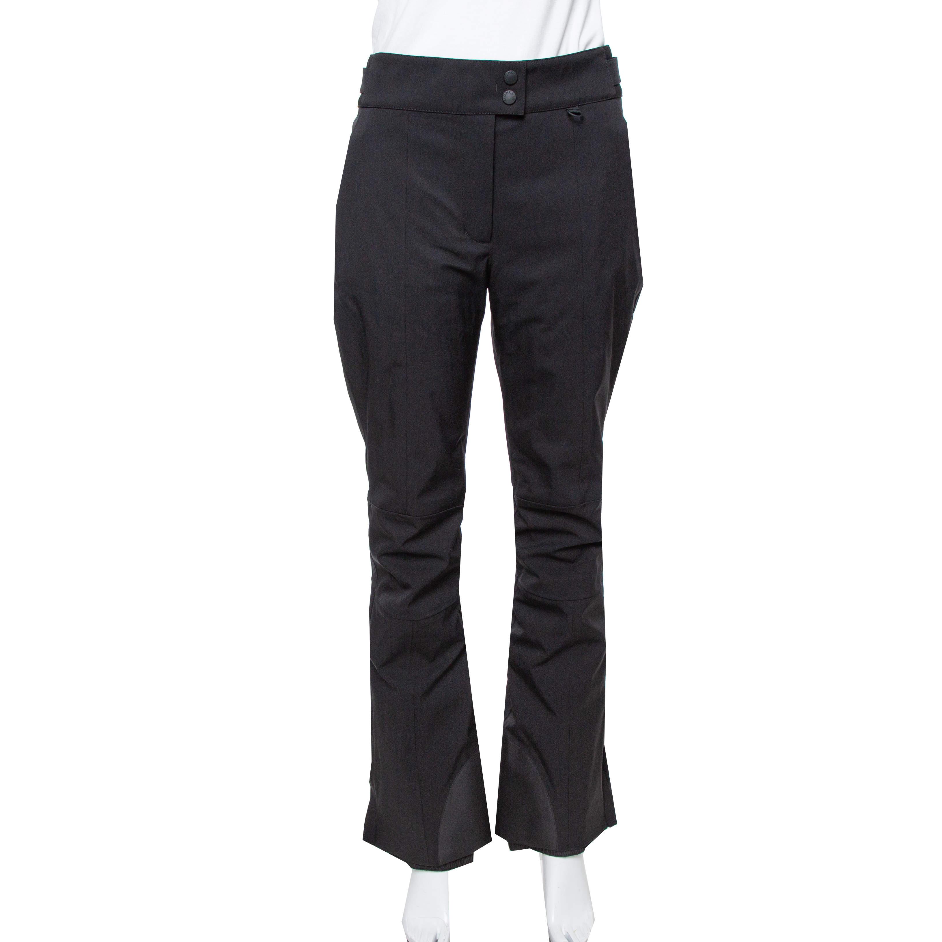 Moncler Black Padded Sportivo Ski Pants M