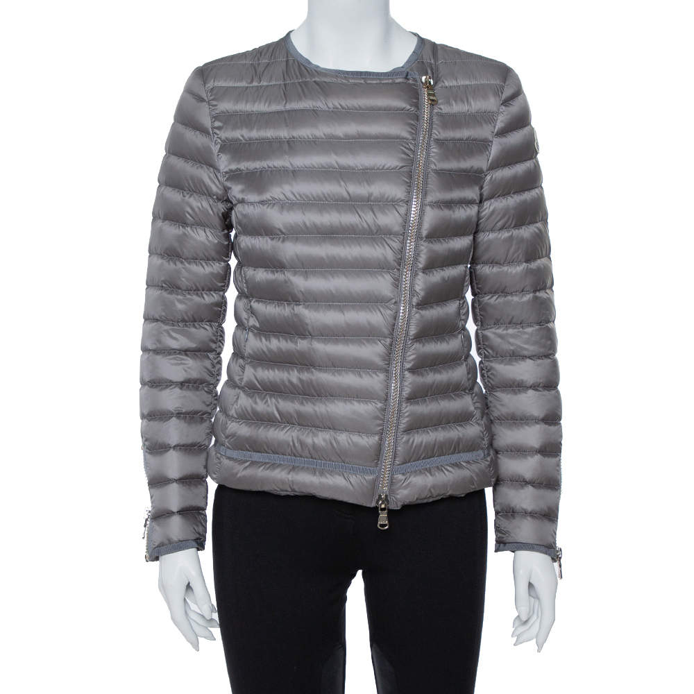 Moncler Grey Down Quilted Amey Jacket M
