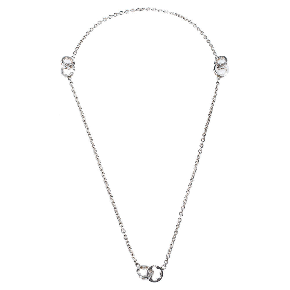 Montblanc Star Signet Silver Station Necklace
