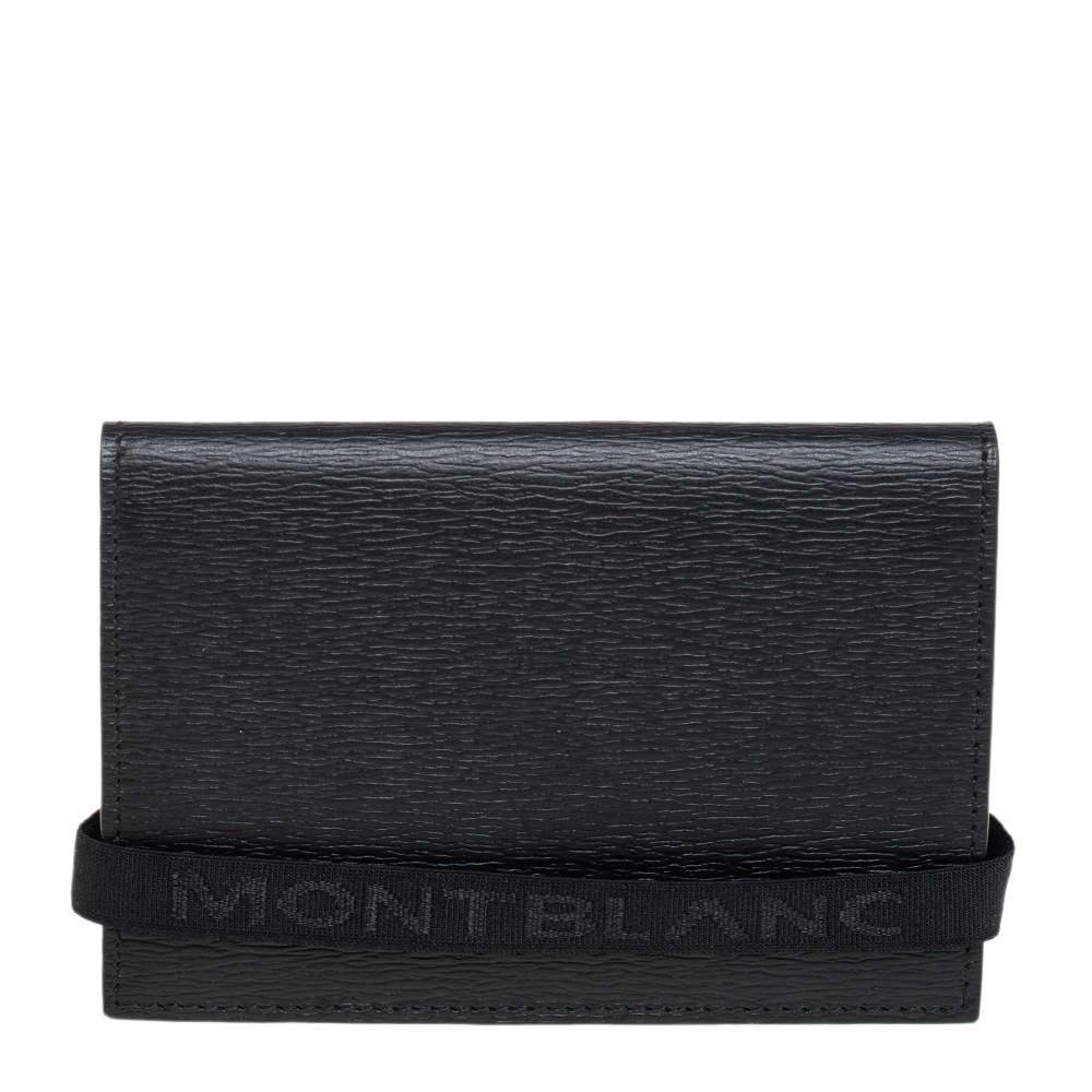 Montblanc Black Leather Business Card Holder