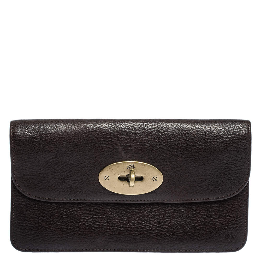 Mulberry Dark Brown Leather Continental Wallet