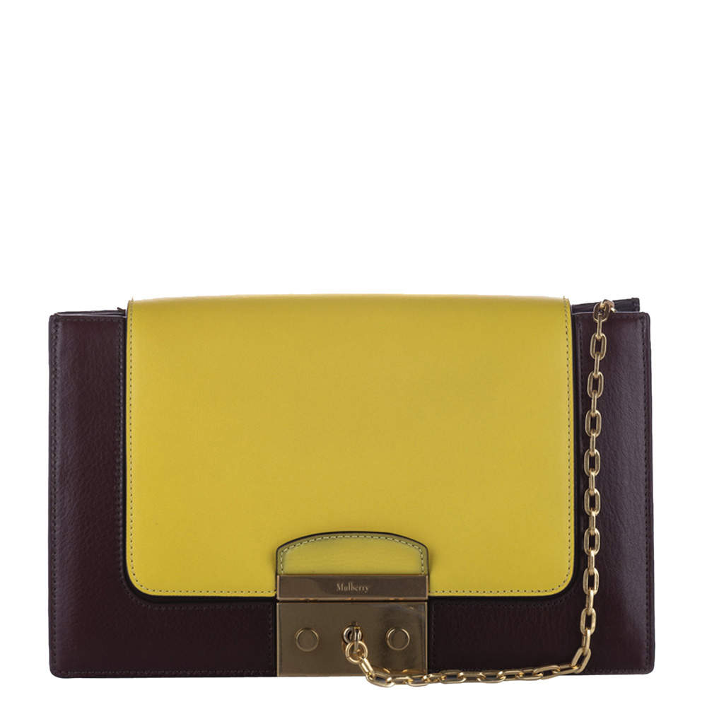 Mulberry Yellow/Brown Leather  Pembroke Bag