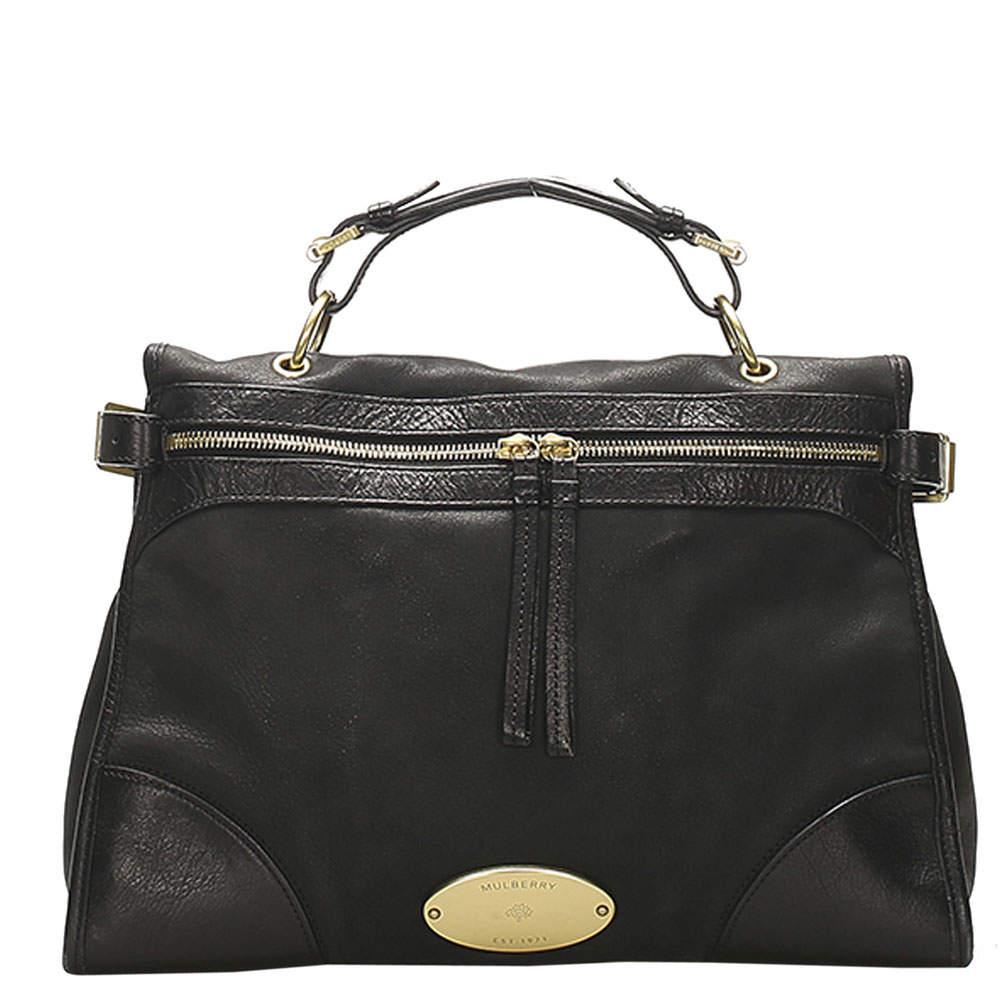 Mulberry Black Leather Taylor Satchel bag