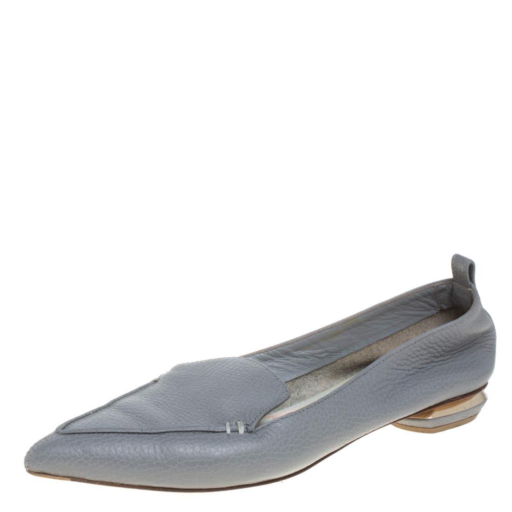 حذاء لوفرز كيركوود بيا جلد رصاصي مقاس 37