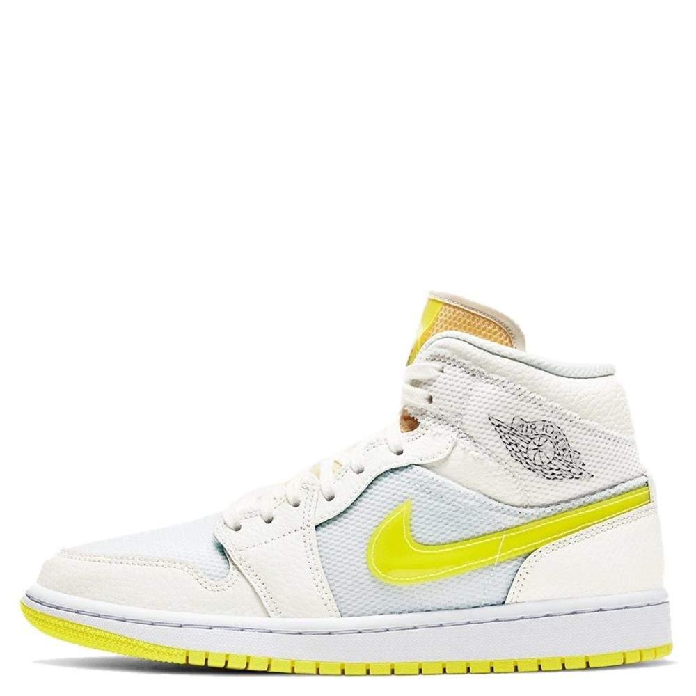 Nike Jordan 1 Mid SE Voltage Yellow Sneakers US 6W EU 36.5