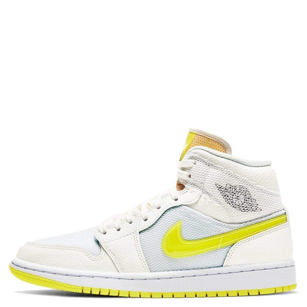Nike Jordan 1 Mid SE Voltage Yellow Sneakers US 7.5W EU 38.5