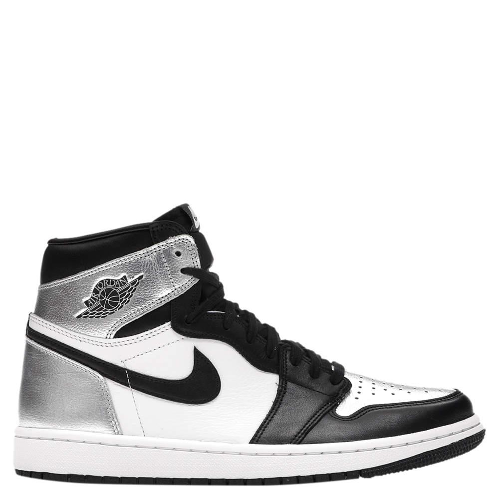 Nike Jordan 1 Silver Toe Sneakers Size (US 10W) EU 42