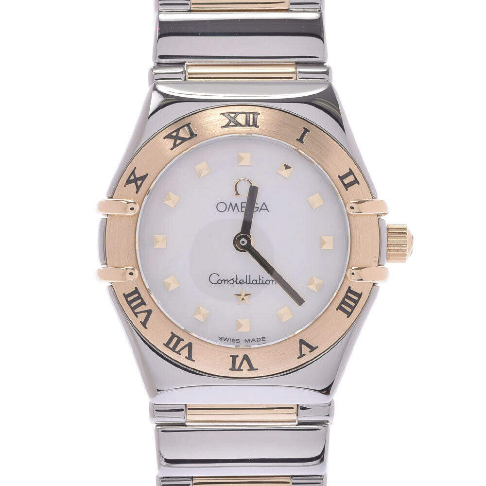Omega MOP 18K Yellow Gold And Stainless Steel Constellation Quartz Women's Wristwatch 22 MM