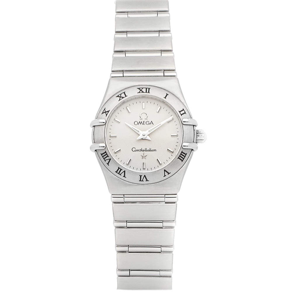 Omega Silver Stainless Steel Constellation 1562.30.00 Women's Wristwatch 22.5 MM