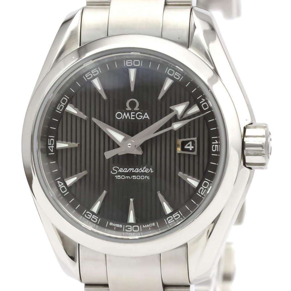 ساعة يد نسائية أوميغا سي ماستر أكوا تيرا 231.10.30.61.06.001 ستانلس ستيل سوداء 30 مم