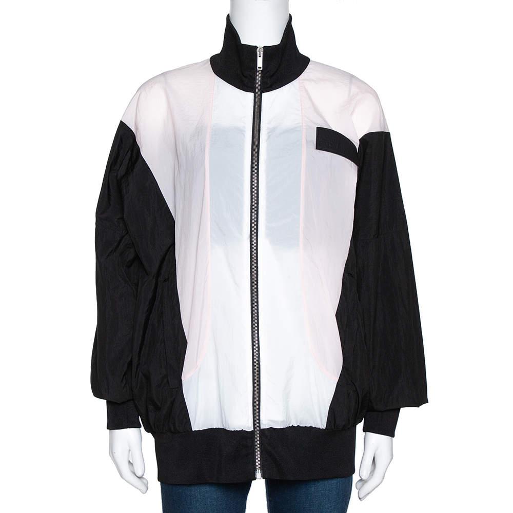 Palm Angels Color Block Zip Front Track Jacket S