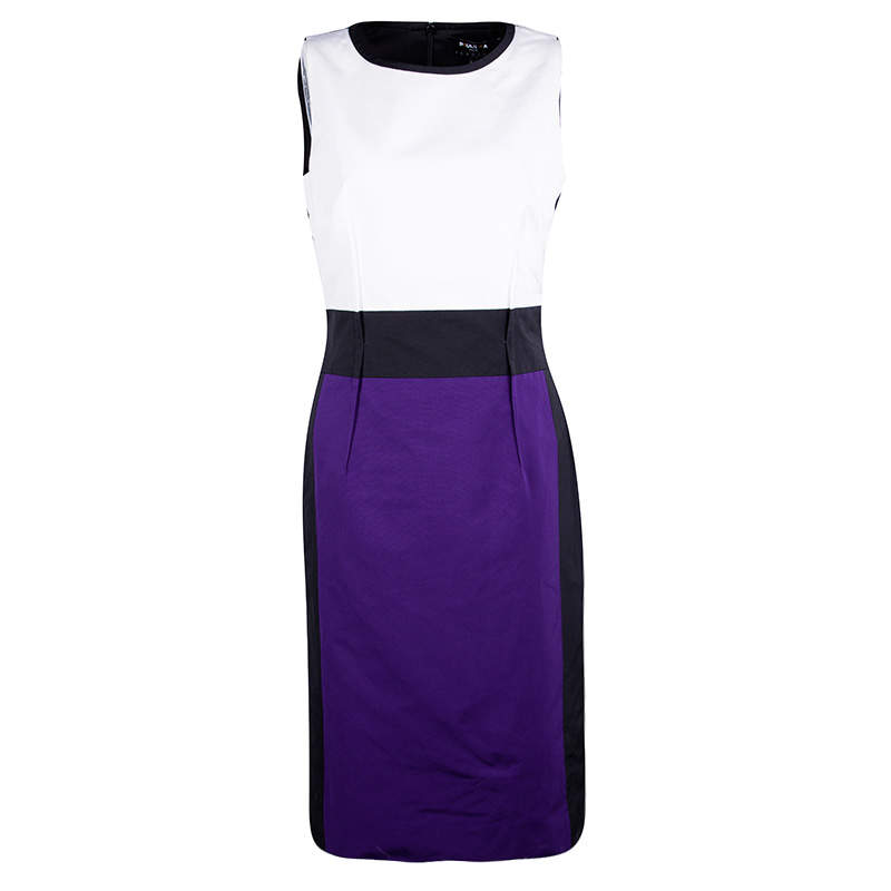 Paule Ka Colorblock Sleeveless Shift Dress M