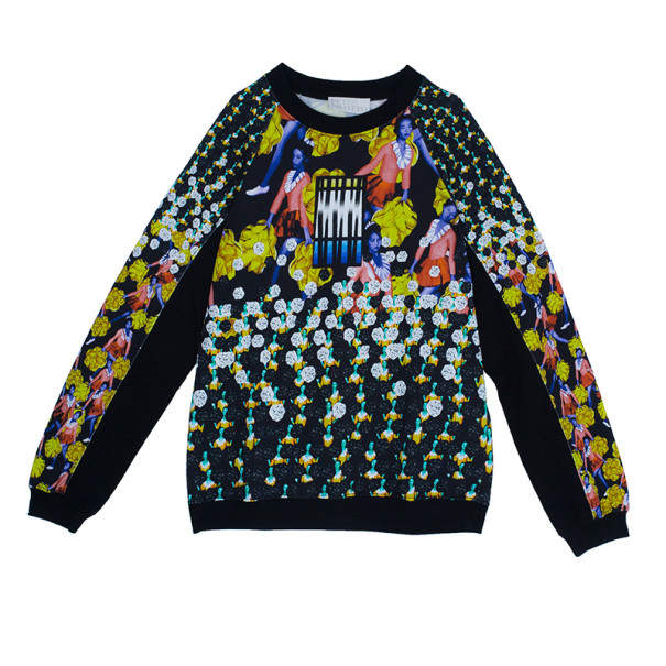 Peter Pilotto Ruc Printed Cotton Sweater M
