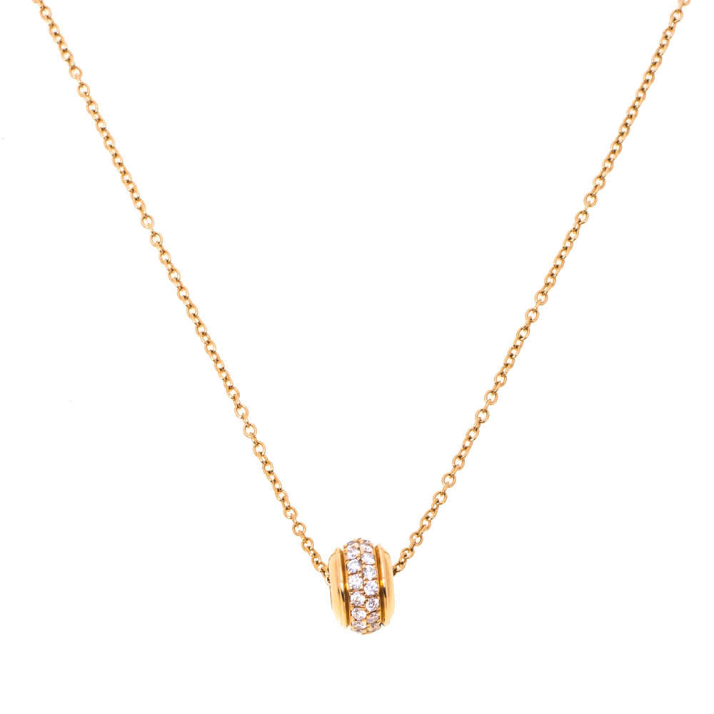 Piaget Possession Diamond 18K Rose Gold Pendant Necklace