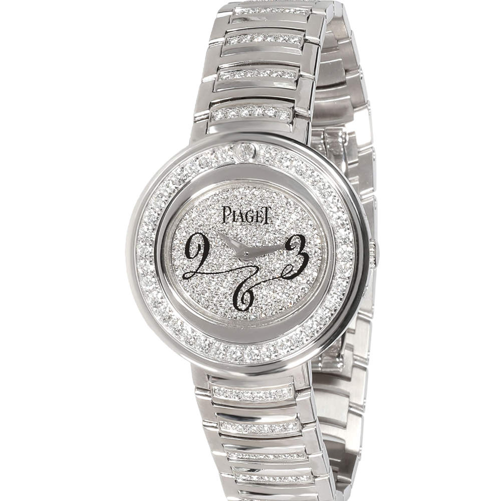 Piaget Silver Diamonds Stainless Steel Possession GOA30086 Women's Wristwatch 29 MM