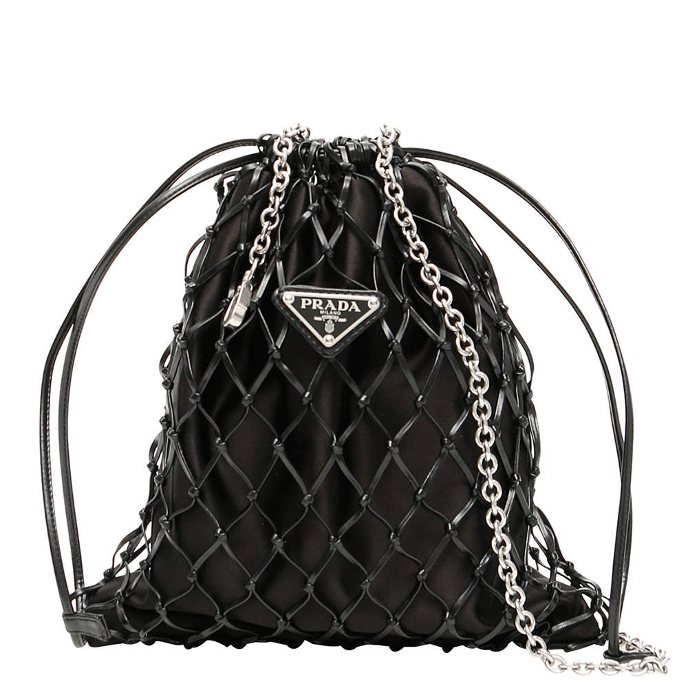 Prada Nero Mesh Mini Backpack
