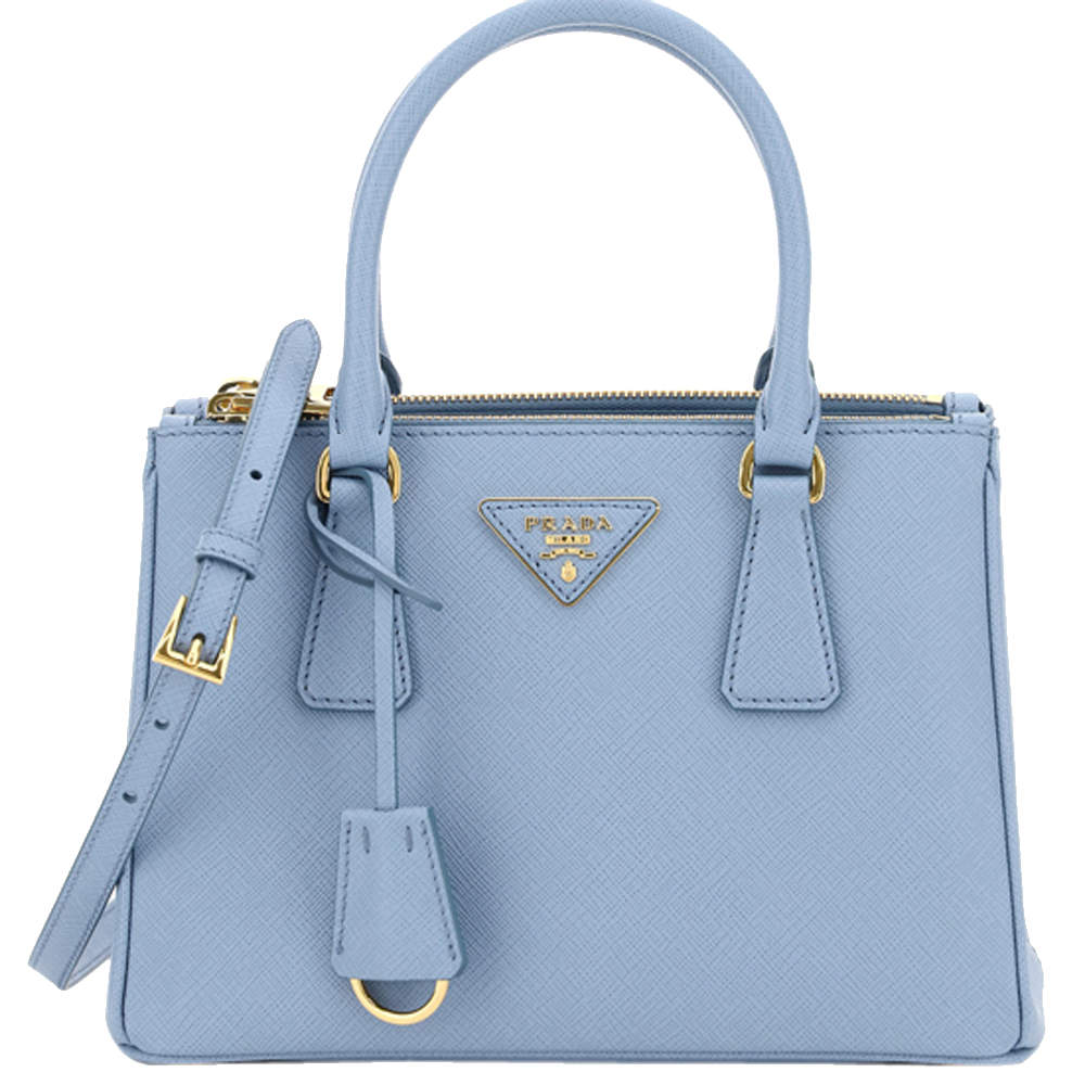 Prada Blue Saffiano Lux Leather Galleria Bag
