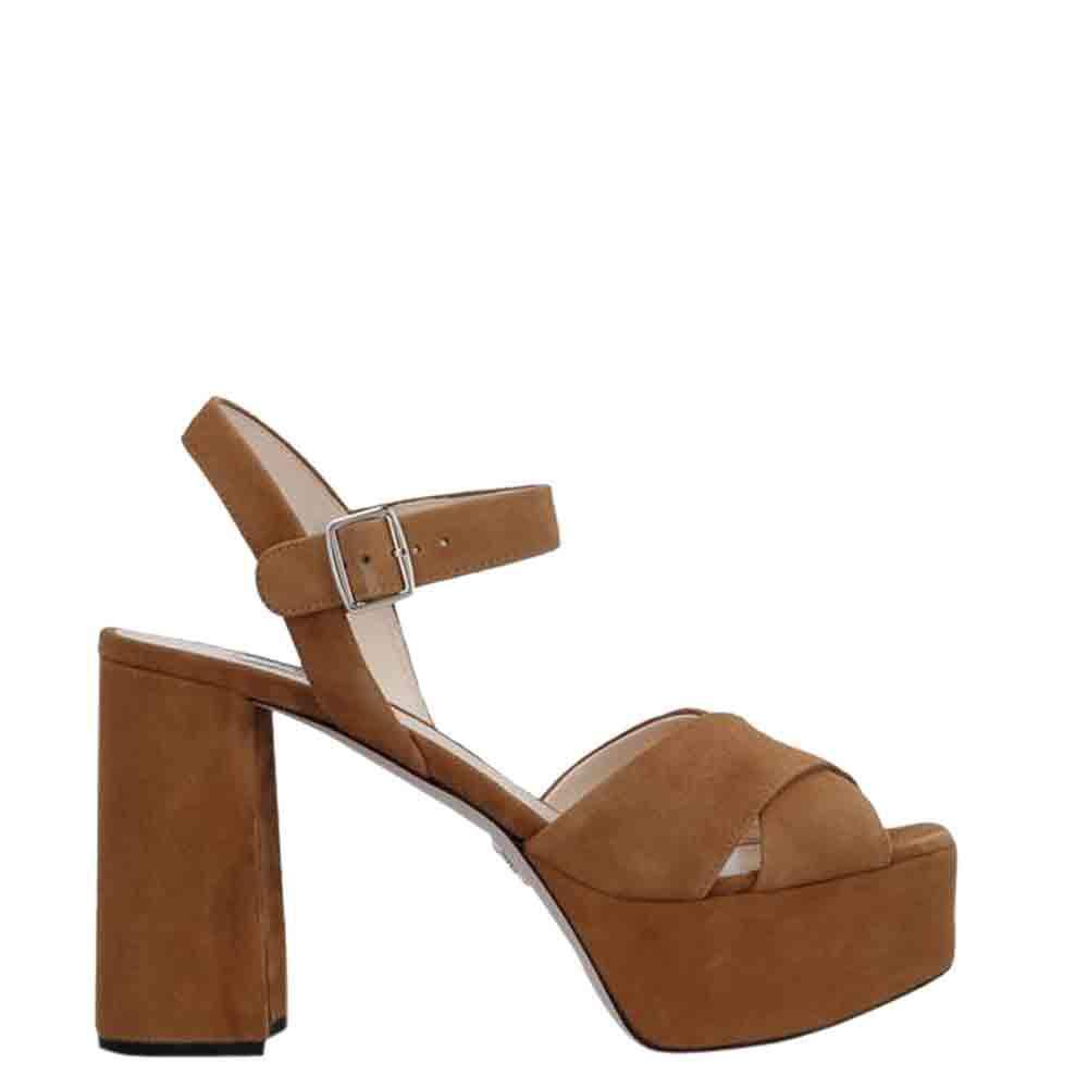 Prada Brown Suede platform Sandals Size EU 35.5