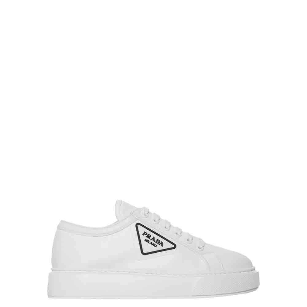 Prada White White Logo Sneakers Size EU 38