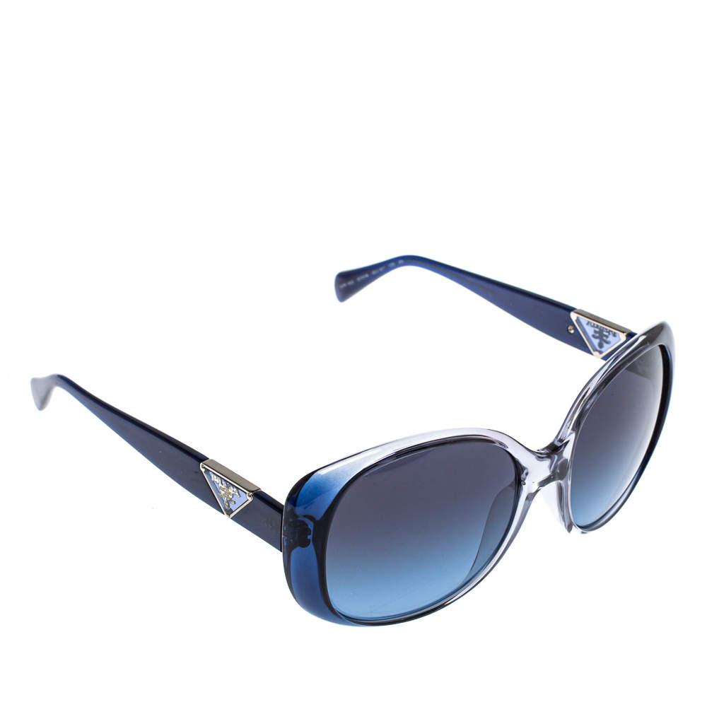 Prada Blue / Blue Gradient SPR 15O Oversized Sunglasses