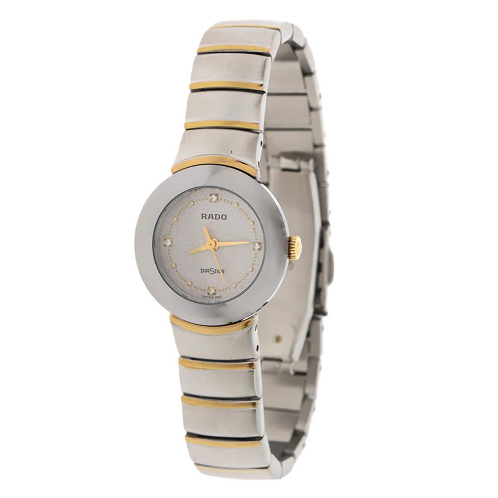 Rado Grey Stainless Steel Carbon Carbide Diastar 205.0290.3 Women's Wristwatch 23 mm