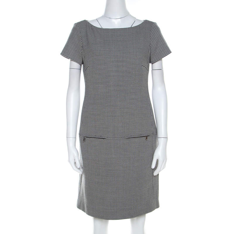 Ralph Lauren Monochrome Houndstooth Ailya Dress M