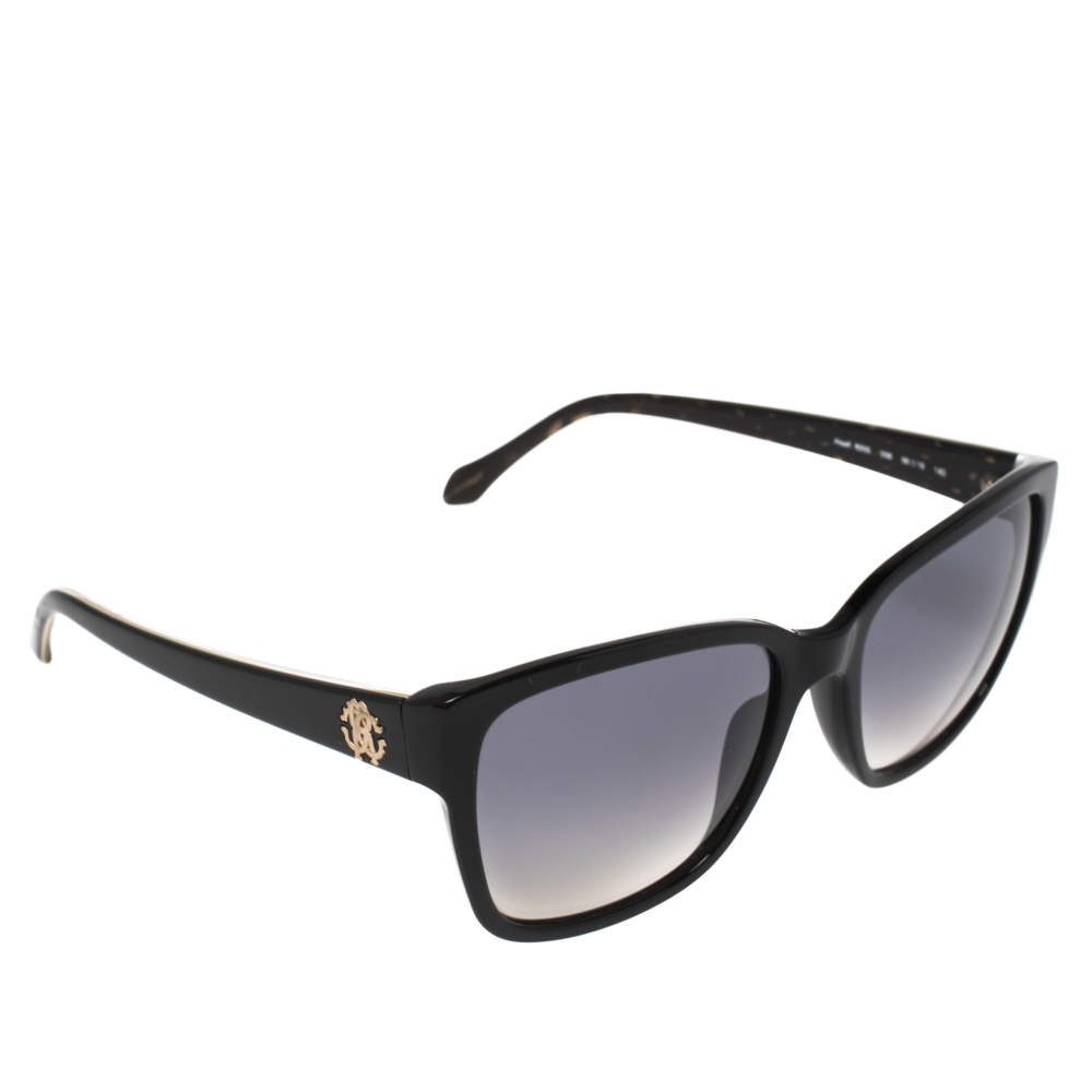 Roberto Cavalli Black & Havana/ Grey Gradient 825S Alsafi Square Sunglasses