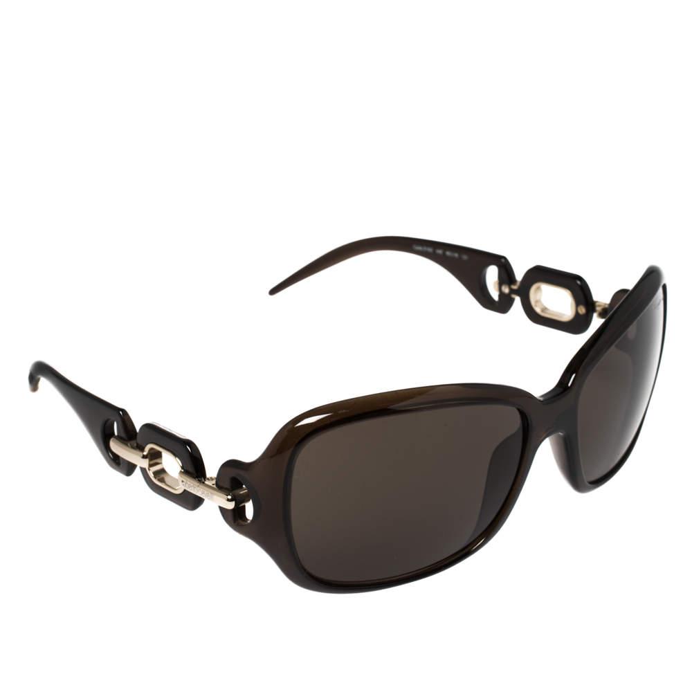 Roberto Cavalli Brown & Gold Tone/ Brown 516S Rectangle Sunglasses