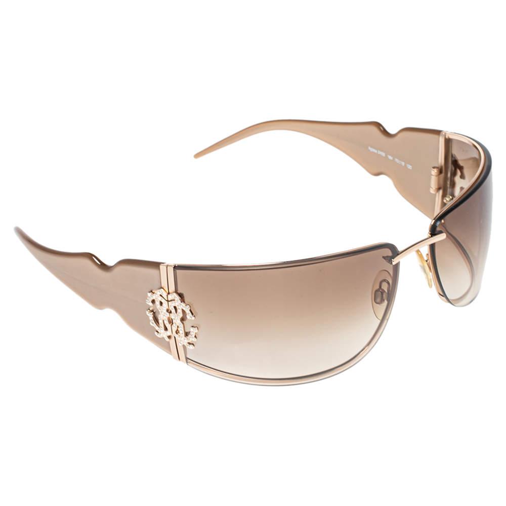 Roberto Cavalli Brown/Beige Acetate Aglaia 245S Gradient Sunglasses