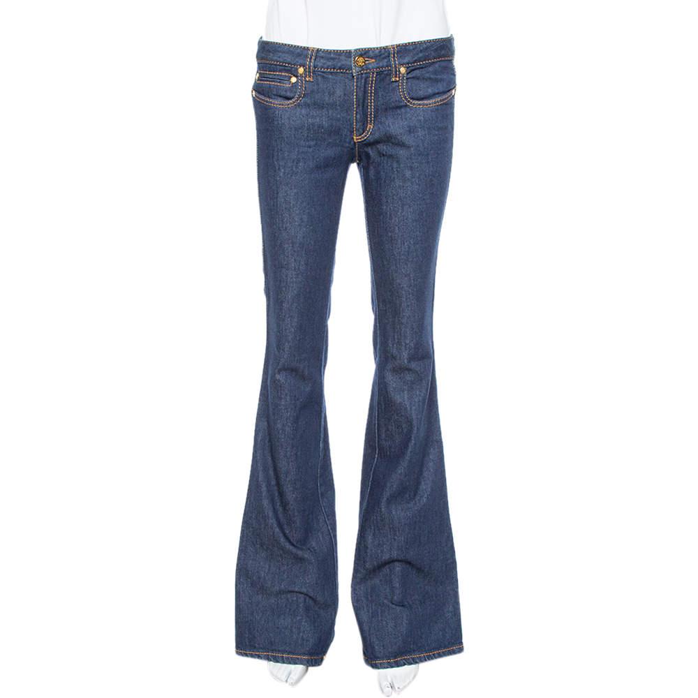 Roberto Cavalli Indigo Dark Wash Denim Flared Jeans S