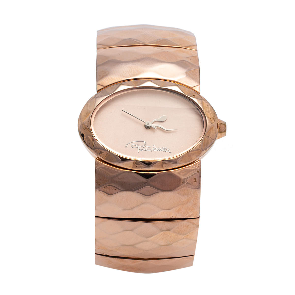 Roberto Cavalli Champagne Pink Rose Gold Plated Stainless Steel R7253133517 Women's Wristwatch 36 MM