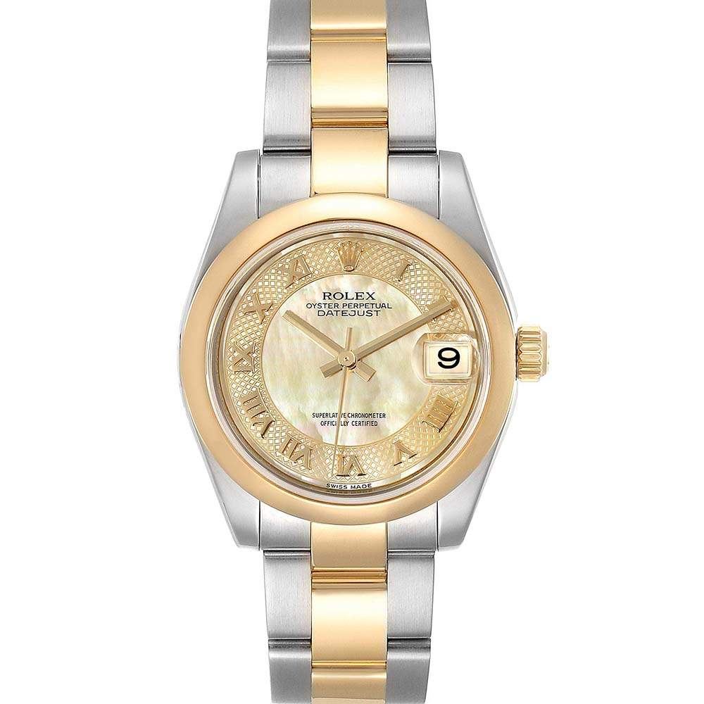 Rolex Champagne 18K Yellow Gold And Stainless Steel Datejust 178243 Women's Wristwatch 31 MM