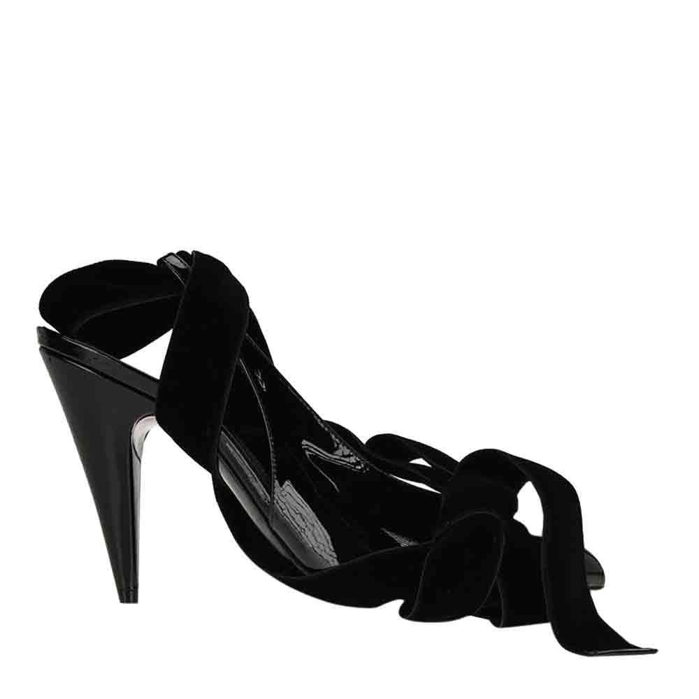 Saint Laurent Paris Black patent leather Kika slingback Pumps Size EU 37.5