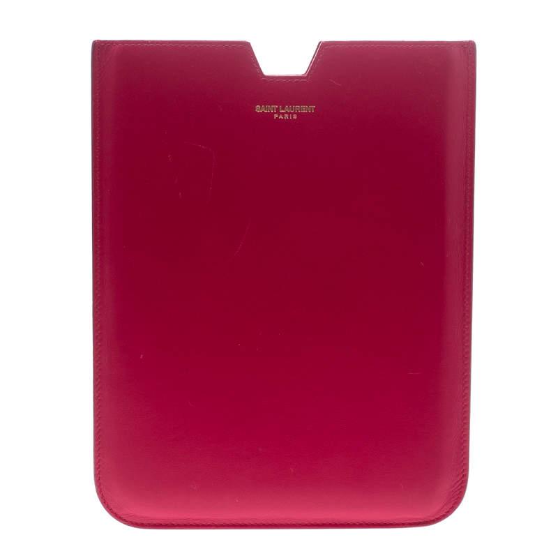 Saint Laurent Fuchsia Leather iPad Mini Case