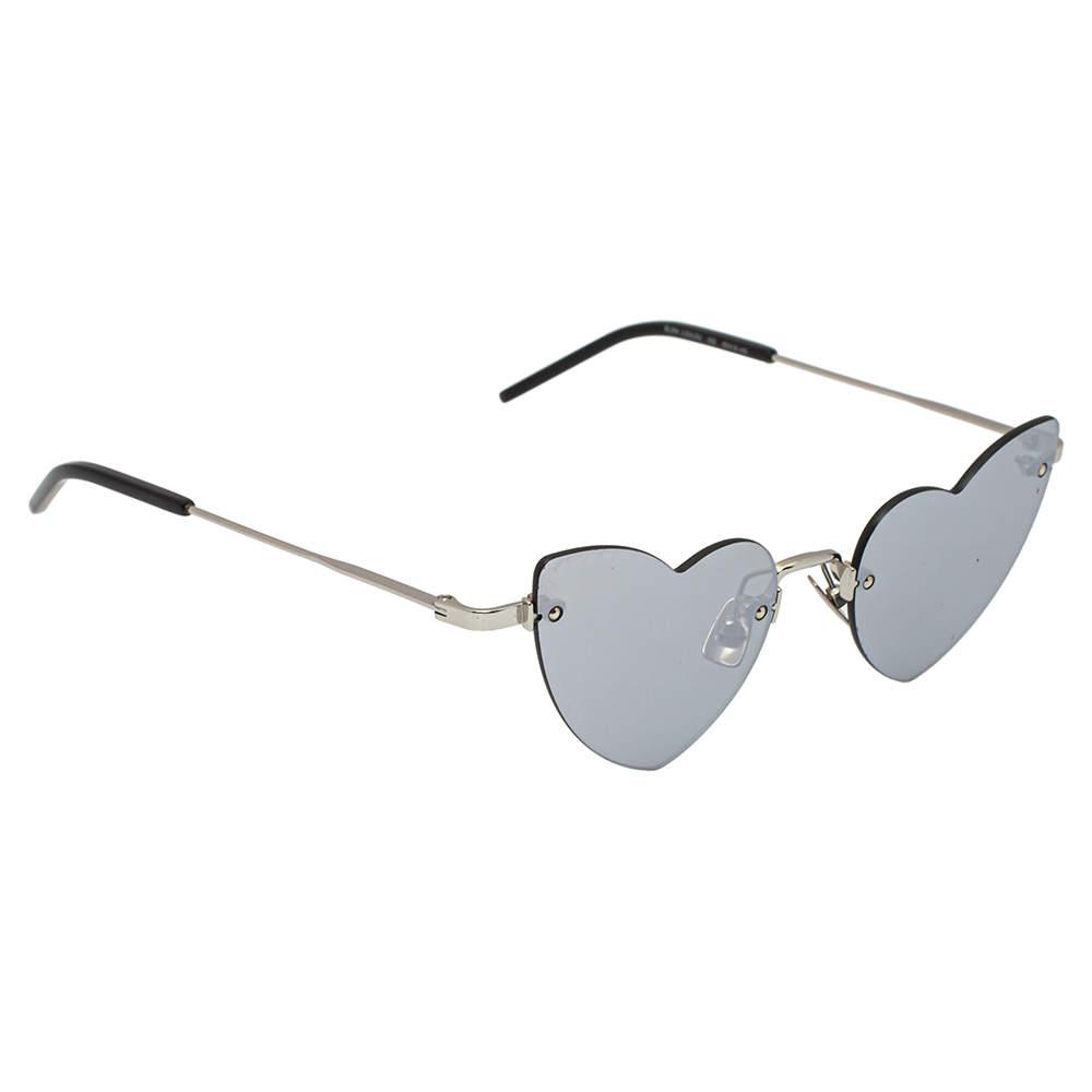 Saint Laurent Paris Silver / Grey SL254 LouLou Rimless Sunglasses